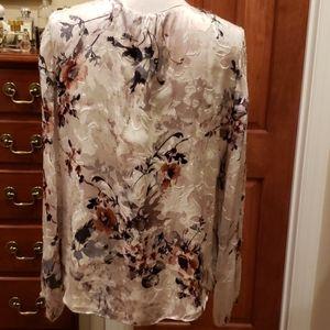 White House Black Market Tops - WHBM Floral Blouse